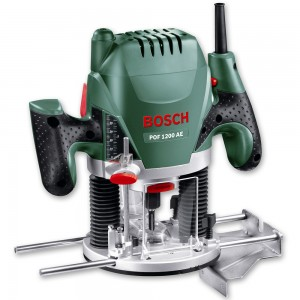 "Bosch POF 1200 AE Router (1/4"") & Axcaliber Cutter Set - PACKAGE DEAL"