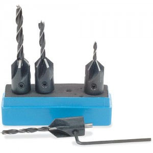4 Piece Drill & Countersink Set