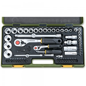 "Proxxon 65 Piece Imperial Socket Set (1/4"" & 1/2"")"