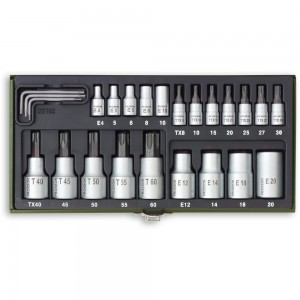 "Proxxon 24 Piece Torx Socket Set (1/4"" & 1/2"")"