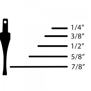 Flexcut SK Chisels Single Bevel No.1