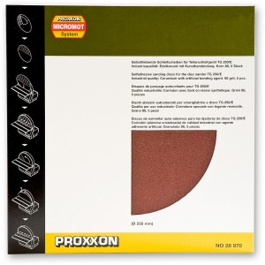 Proxxon 250mm Sanding Discs  (Pkt 5)