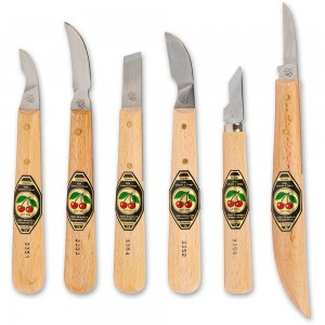 Kirschen 6 Piece Chip Carving Knife Set