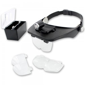 LightCraft Head Mounted Magnifier with 4 Lenses and Spotlight