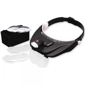 LightCraft Deluxe LED Headband Magnifier Kit