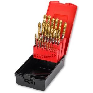 Ig2 25 Piece 1.0-13 x 0.5mm TiN Coated HSS Drill Bit Set