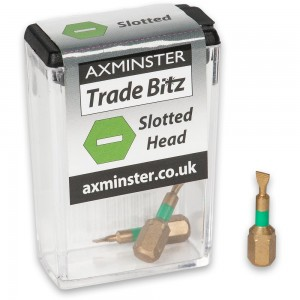 Axminster Trade Bitz TiN Coated Slotted Screwdriver Bits