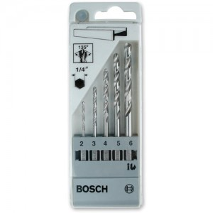 Bosch 5 Piece HSS-G Drill Bit Set (Hex Shank)