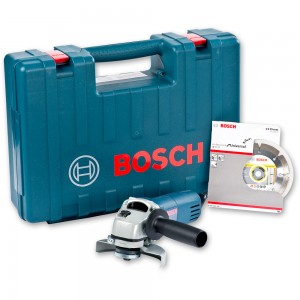 Bosch GWS 850 C Angle Grinder 115mm Diamond Disc and Case