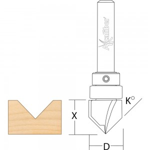 Axcaliber Bearing Guided Vee Groove Cutter