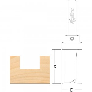 Axcaliber Flush Trim Cutters Top Bearing