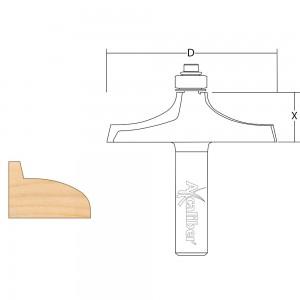 "Axcaliber Thumb Mould Cutter - 1/2"" Shank"