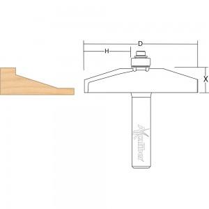 Axcaliber Bevel Panel Raising Cutter