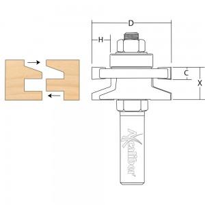 Axcaliber Reversible Stile & Rail Cutter (Bevel)