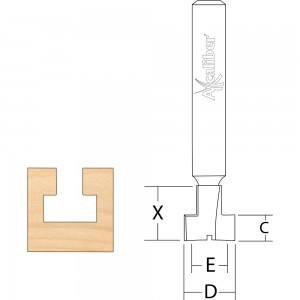Axcaliber Keyhole Cutters