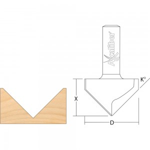 Axcaliber Vee Groove Router Cutters