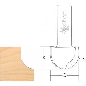 "Axcaliber Round Nose/Radius Cutters - 1/2"" Shank"