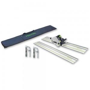 Festool TS 55R EBQ-Plus-FS Plunge Saw, 2 x 1,400mm Rails & Accessories