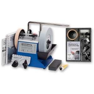 Tormek T-4 Water Cooled Sharpening System with TNT-708 Woodturner's Accessory Kit.