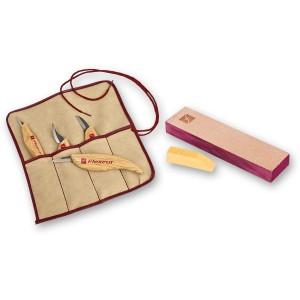 Flexcut 4 Piece Carving Knife Set & Knife Strop - PACKAGE DEAL