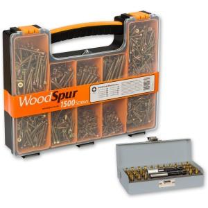 WoodSpur Pozi Premium Wood Screws & 28 Pce TiN Bit Set - PACKAGE DEAL