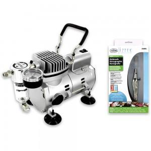 Aztek Airbrush & Sparmax Airbrush Compressor Package