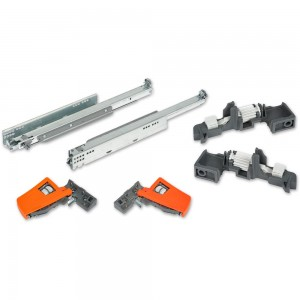 Blum MOVENTO 40kg Drawer Runners 500mm Complete Package