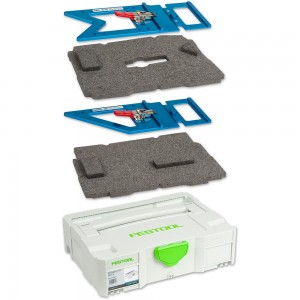 TSO Products Pair Guide Rail Squares, Insert & Festool T-Loc Systainer