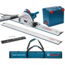 Bosch GKT 55 GCE Plunge Saw, 2 x 1.6m Rails, Connector & Rail Bag 230V