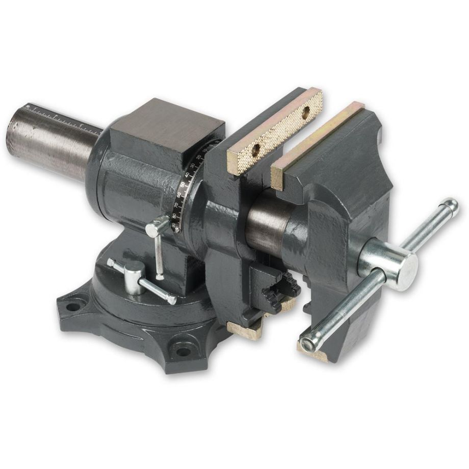 """125mm 5/"""" Precision Swivel Rotating Base Bench Vice Horizontal Solid Milling"""