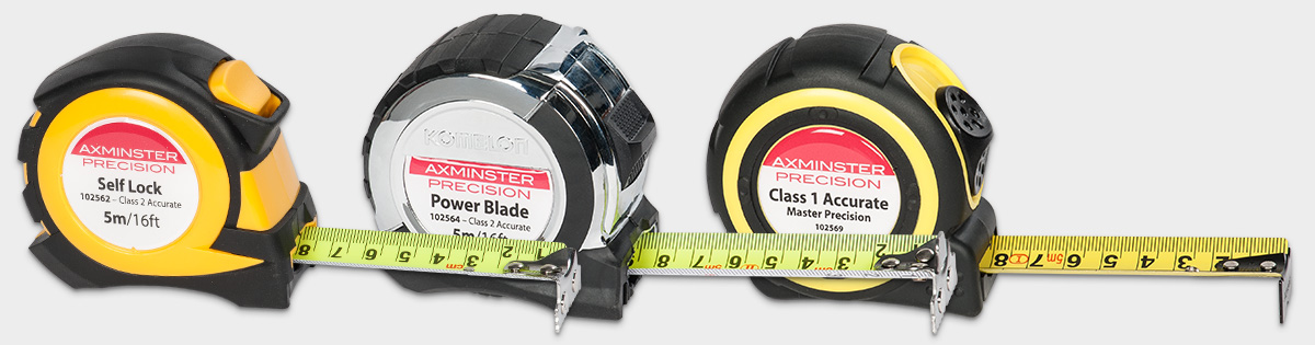 Axminster Precision Tape Measures