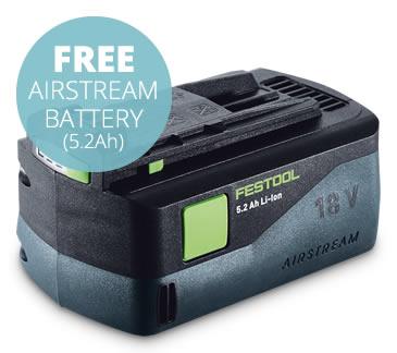 New Festool AIRSTREAM batteries
