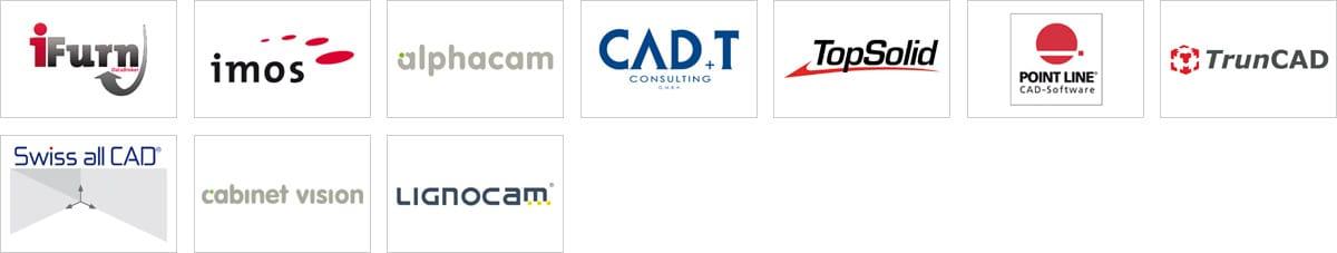 Software partner logos