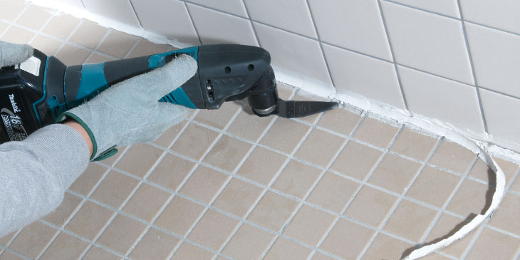 Replacing a bathroom tile