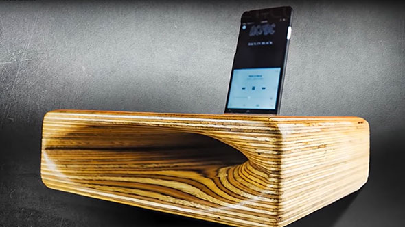 Power carve a speaker with Arbortech