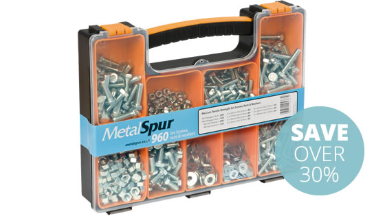MetalSpur Bolts, Nuts & Washers Pack